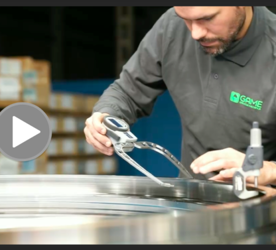 Detalle del vídeo sobre Ganaín y sobre su actividad de fabricación en Televisión de Galicia